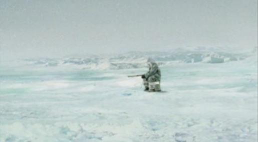 Inuit fisher in TipTop whale tv ad