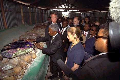 Kofi Annan in Rwanda