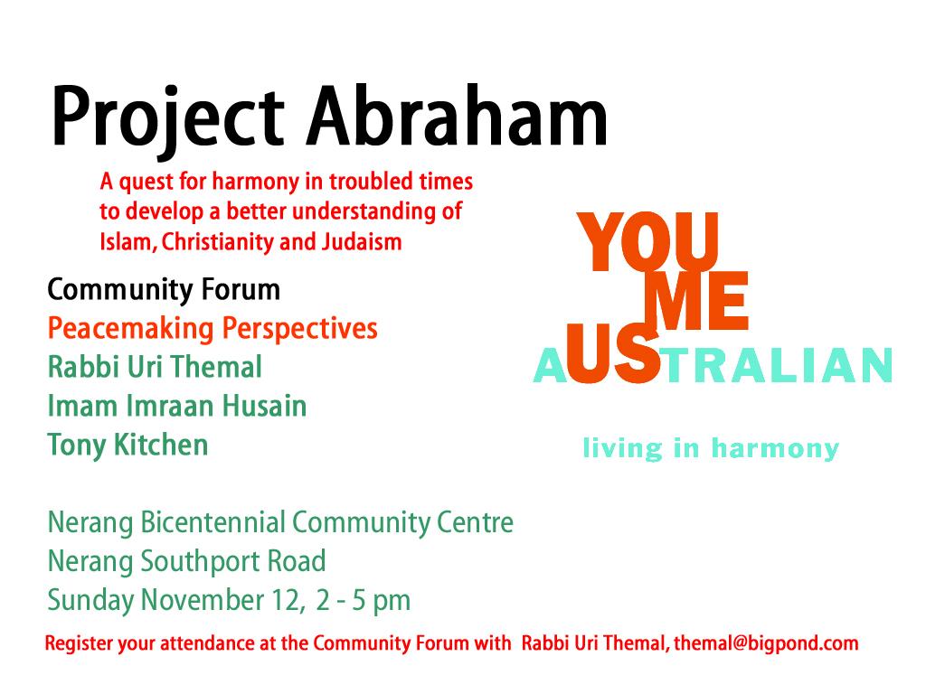 Project Abraham Peacemaking Forum on Gold Coast - Postkiwi