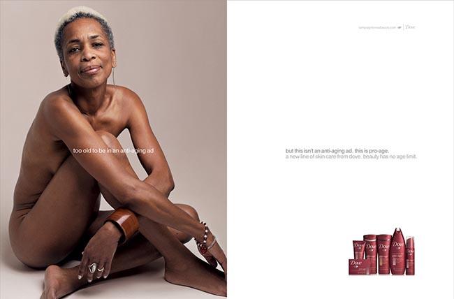 Diana Harewood Baynes in Dove Pro Age Ad