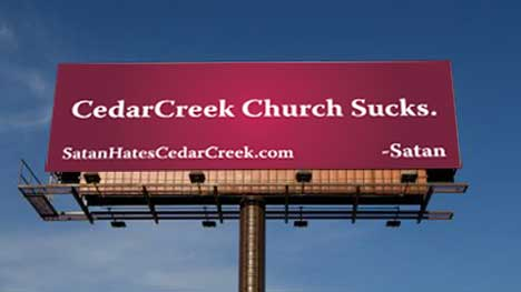 Cedar Creek TV sucks - Satan