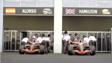 Alonso and Hamilton at the end of their race