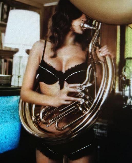 Elle MacPherson Tuba Girl