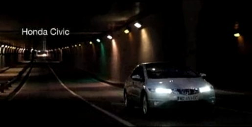 Honda Civic in Trip of Lights TV commercial