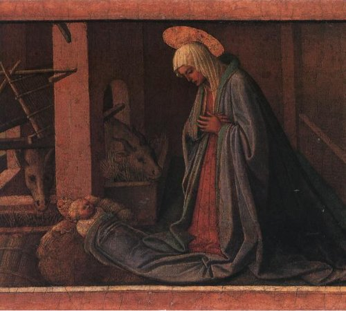 Kneeling in Bethlehem artwork