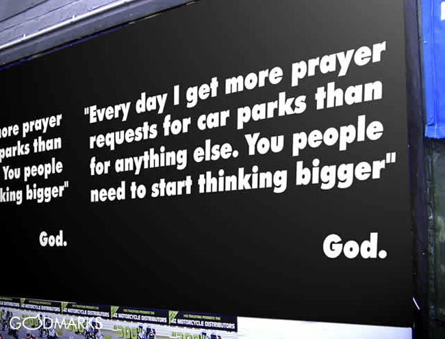 Godmarks Carpark Prayers billboard