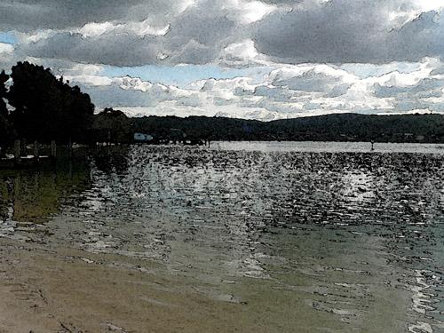 Merimbula Lake Watercolour