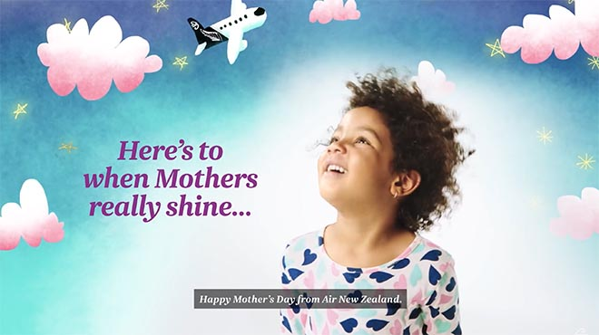 Air New Zealand Happy Mothers Day